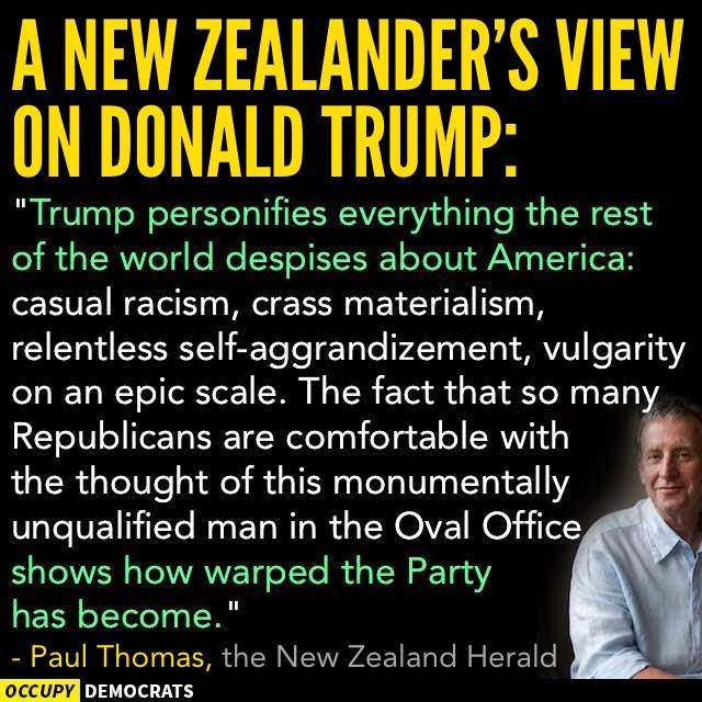 New Zealander's View on Trump